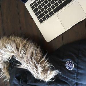Abercrombie & Fitch Black Winter Coat